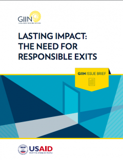 Lasting Impact: The Need for Responsible Exits