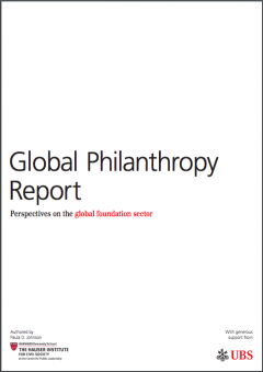 The Global Philanthropy Report: Perspectives on the Global Foundation Sector