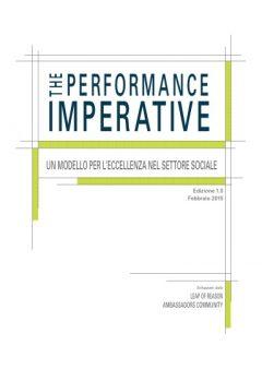Il Performance Imperative. Un modello per l'eccellenza nel settore sociale