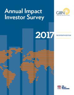 2017 Annual Impact Investor Survey