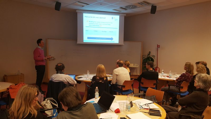 Nella foto, Philippe Bernard-Treille, Investment Manager, European Investment Fund (EIF), tra le case history del training