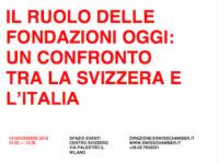 """Convegno """"Il ruolo delle Fondazioni oggi: un confronto tra la Svizzera e l'Italia"""""""