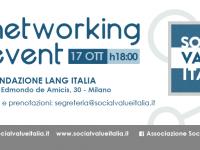 Social Value Italia ospite di Fondazione Lang per un Networking Event e il corso SROI Training